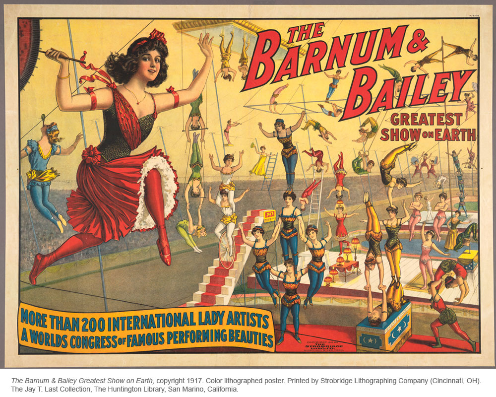 barnum and bailey lady artists 1917